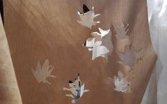 Wood di Caterina Moro. Dove le foglie vanno a creare il mood