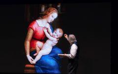 Vittorio Sgarbi al Teatro Olimpico con Raffaello.  Uno spettacolo sensoriale di video arte, parole e suoni